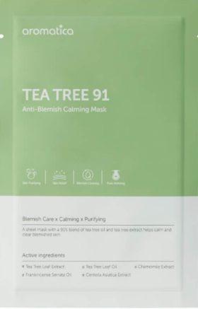AROMATICA Tea Tree 91 Anti-Blemish Calming Mask (1EA) (AROMATICA 茶树91抗痘镇定面膜 (1片装))
