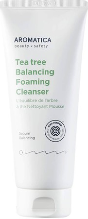 AROMATICA Tea Tree Balancing Foaming Cleanser 180g (AROMATICA 茶树平衡泡沫洁面乳 180克)
