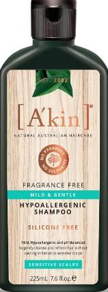 A'kin Mild & Gentle Fragrance Free Shampoo (A'kin轻度温和无香洗发露。)