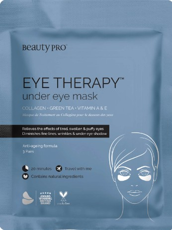 BeautyPro Eye Therapy Under Eye Mask with Collagen and Green Tea Extract (3 Applications) (BeautyPro 眼部护理面膜 (3 对))