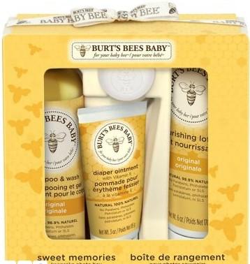 Burt's Bees Baby Bee Sweet Memories Gift Set with Keepsake Photo Box伯特小蜜蜂婴儿宝宝精选套装礼盒