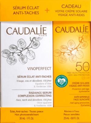 Caudalie Vinoperfect Serum 30ml and SPF50 Suncare Duo 欧缇丽美白亮肤精华液和抗皱防晒霜SPF50 25毫升
