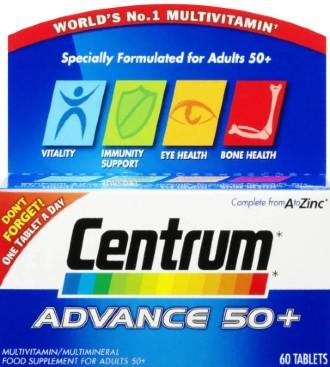 Centrum Advance 50 Plus Multivitamin Tablets 复合维生素60 片