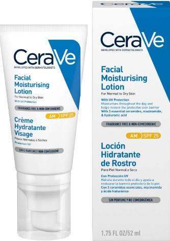 CeraVe Facial Moisturising Lotion SPF 25 52ml (CeraVe 保湿防晒乳液SPF25 52毫升)