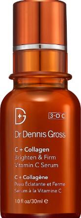 Dr Dennis Gross Skincare C+Collagen Brighten and Firm Vitamin C Serum 30ml (Dr Dennis Gross Skincare C + 胶原蛋白亮白紧致维他命C精华液)