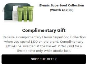 Elemis艾丽美精品套装护肤系列产品 – 折扣或者赠品提示