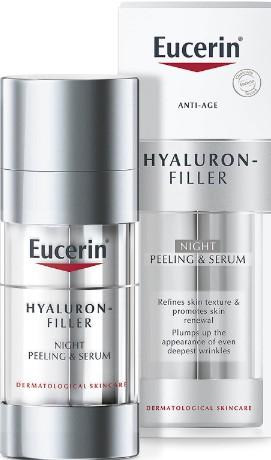 Eucerin Hyaluron Filler Night Peeling and Serum 30ml (Eucerin 优色林透明质酸夜间去角质精华液 30毫升)