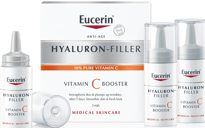 Eucerin Hyaluron-Filler Vitamin C Booster (3 Vials) (Eucerin 优色林透明质酸维他命C增强剂 (3 小瓶))