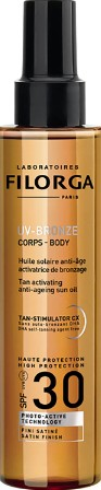 Filorga UV Bronze SPF30 Body Oil 150ml (Filorga UV Bronze SPF30 菲洛嘉身体防晒油 150毫升)