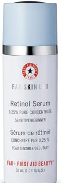 First Aid Beauty Skin Lab Retinol Serum 0.25% Pure Concentrate 30ml (Sensitive_Beginner) (First Aid Beauty急救美容0.25%视黄醇精华液 30毫升)