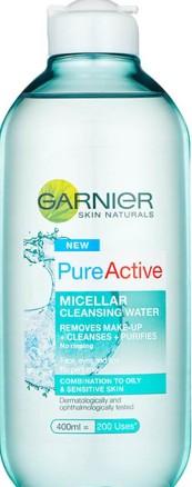 Garnier Pure Active Micellar Water facial cleanser Oily Skin 卡尼尔(Garnier)油性皮肤洗面液