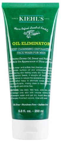 Kiehl's Oil Eliminator Cleanser 科颜氏男士护肤去角质洁面乳200毫升