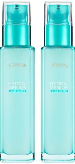 L'Oréal Paris Hydra Genius Liquid Care Moisturiser for Normal Combination Skin 70ml 2 Pack Exclusive(L'Oréal Paris 液体保湿霜 70毫升 2 包装)
