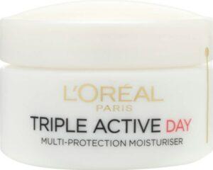 L'Oréal Paris Dermo Expertise Triple Active Day Multi-Protection Moisturiser - Dry _ Sensitive Skin (50ml) (L'Oréal Paris 欧莱雅巴黎三重活性保湿霜(50毫升))