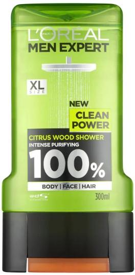 L'Oréal Paris Men Expert Clean Power Shower Gel 巴黎欧莱雅男士强力沐浴露300毫升