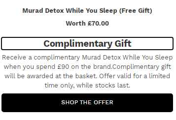 Murad 最受欢迎的护肤明星产品 – 折扣和赠品赠送促销期间