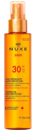 NUXE Sun Tanning Oil Face and Body SPF 30 面部和身体塑色防晒霜150毫升