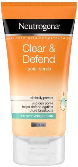 Neutrogena® Clear & Defend Facial Scrub面部防御磨砂膏150毫升