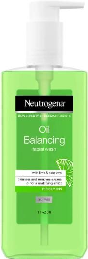 Neutrogena Oil Balancing Facial Wash with Lime and Aloe Vera for Oily Skin 露得清水油平衡洁面乳200毫升