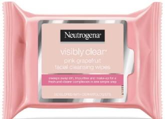 Neutrogena Pink Grapefruit Medicated Facial Wipes粉红色葡萄柚清洁湿面巾 (25 片湿面巾)