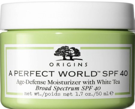 Origins A Perfect World™ SPF40 Age-Defense Moisturiser with White Tea 50ml (Origins 抗衰老保湿防晒霜)