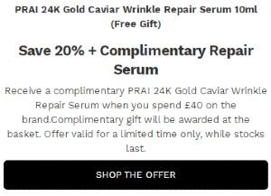 PRAI Beauty最受欢迎的护肤明星产品 – 赠品赠送提示