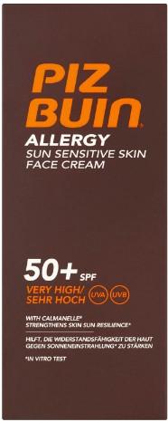 Piz Buin Allergy Sun Sensitive Skin Face Cream - Very High SPF50+ 50ml (Piz Buin 抗敏防晒霜 SPF50+ 50毫升)