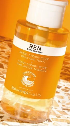 REN Clean Skincare Ready Steady Glow Daily AHA Tonic 250ml (REN AHA 果酸爽肤水 250毫升)