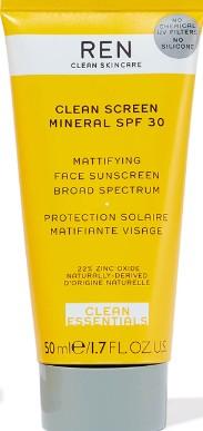 REN Clean Screen Mineral SPF30 Mattifying Broad Spectrum Face Sunscreen矿物哑光防晒霜
