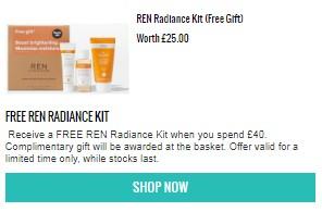 Ren Radiance Kit Free gift