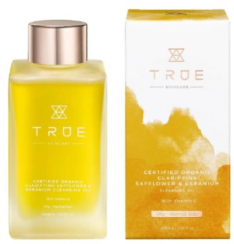 TRUE Skincare Certified Organic Clarifying Safflower and Geranium Cleansing Oil 红花天竺葵卸妆油100毫升