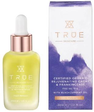 TRUE Skincare Certified Organic Rejuvenating Cacay and Frankincense Facial Oil 面部精油30毫升