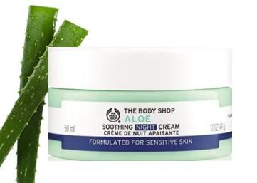 The Body Shop Aloe Soothing Night Cream芦荟舒缓晚霜