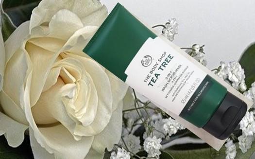 The Body Shop Tea Tree 3-in-1 Wash Scrub Mask茶树三合一洁净磨砂面膜
