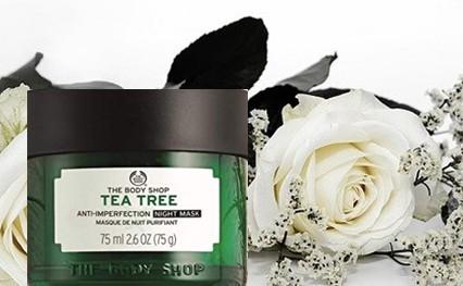 The Body Shop Tea Tree Anti-imperfection Night Mask茶树夜间面膜