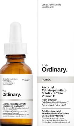 The Ordinary Ascorbyl Tetraisopalmitate Solution 20% in Vitamin F(抗坏血酸四异棕榈酸酯精华液,含20%维他命F)