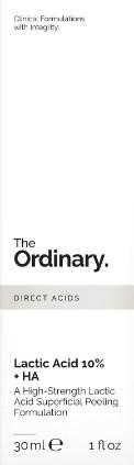 The Ordinary Lactic Acid 10% + HA 2% Superficial Peeling Formulation (10%乳酸+ 2%HA透明质酸)
