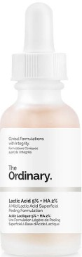 The Ordinary Lactic Acid 5% + HA 2% Superficial Peeling Formulation (5%乳酸+ 2%HA透明质酸)