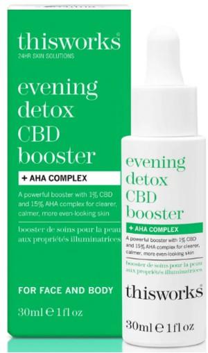 This Works Evening Detox CBD Booster and AHA Complex 晚间排毒AHA复合物和CBD促进剂