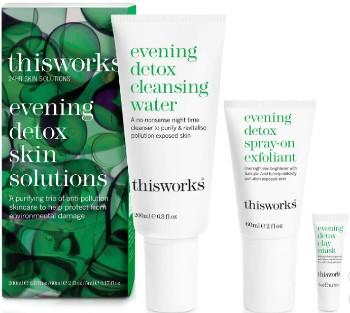 This Works Evening Detox Skin Solution 晚间护肤排毒套装(价值 £58.20英镑)