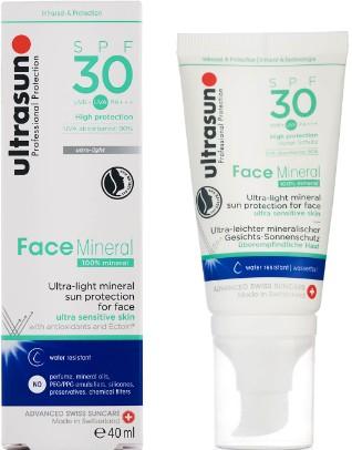 Ultrasun Mineral Face SPF30 Lotion 40ml (Ultrasun 矿物面霜 SPF30 (40毫升))