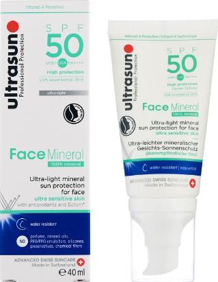 Ultrasun Mineral Face SPF50 Lotion 40ml (Ultrasun矿物防晒面霜 SPF50 (40毫升))