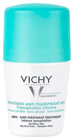 VICHY Deodorant 48Hour Intensive Anti-Perspirant Roll On 48小时强效止汗滚动除臭剂50毫升