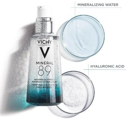 VICHY Minéral 89 Hyaluronic Acid Hydration Booster 50ml (VICHY Minéral 89补水保湿精华液)