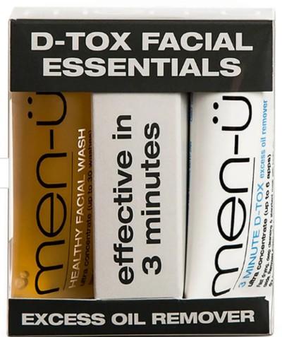 men-ü D-Tox Facial Essentials 男士面部护肤套装